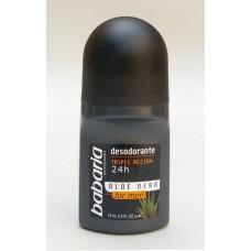 Babaria Aloe Vera Men's 24hr rutulinis dezodorantas vyrams 50ml...
