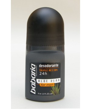Babaria Aloe Vera Men's 24hr rutulinis dezodorantas vyrams 50ml