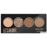 W7 - LET'S GO BUFF - NATURAL NUDES EYE COLOR PALETTE - 4 akių šešėliai...