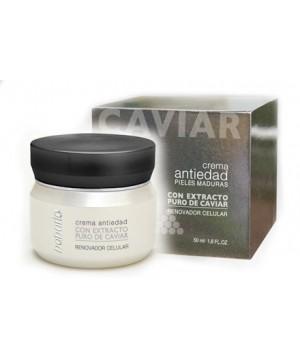 Babaria Anti-ageing cream WITH PURE CAVIAR EXTRACT. Senėjimą stabdantis veido kremas su grynu ikrų ekstraktu brandžiai odai. Regeneruojantis. 50 ml.
